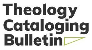 Theology Cataloging Bulletin logo