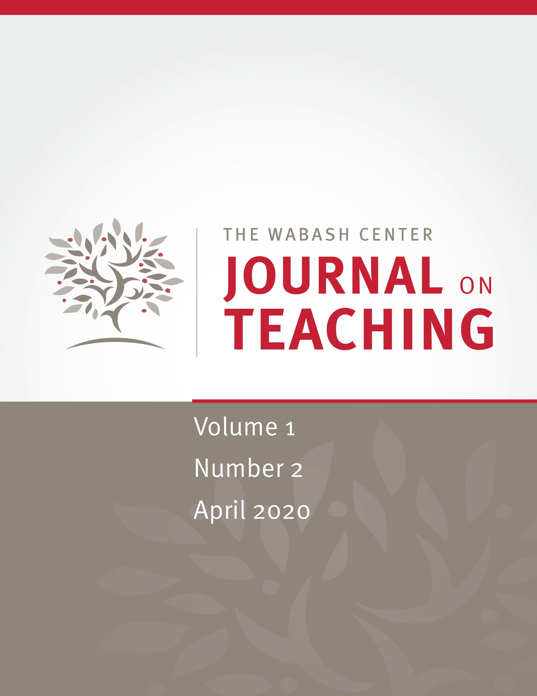 JoT volume 1, issue 2 (April 2020)