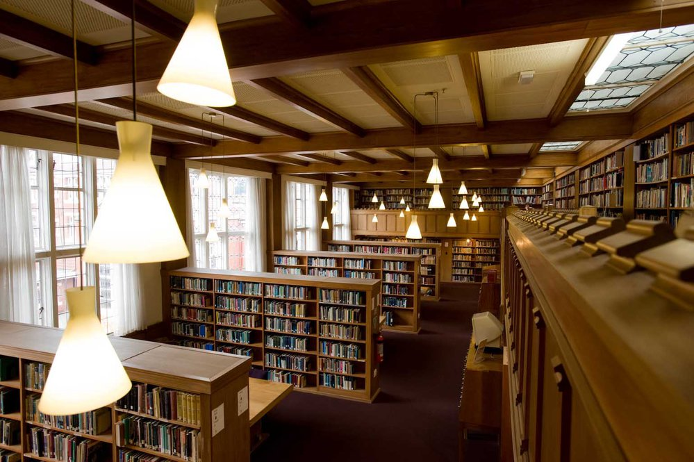 Internal view of Hewitson Library
